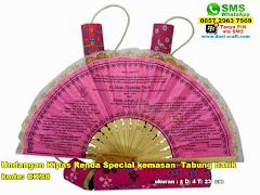 Undangan Kipas Renda Special Kemasan Tabung Batik
