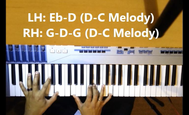 Piano Playing 1 2 3 4 Movement In The Key Of Eb