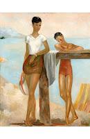 PERE PRUNA Dos bañistas 1943