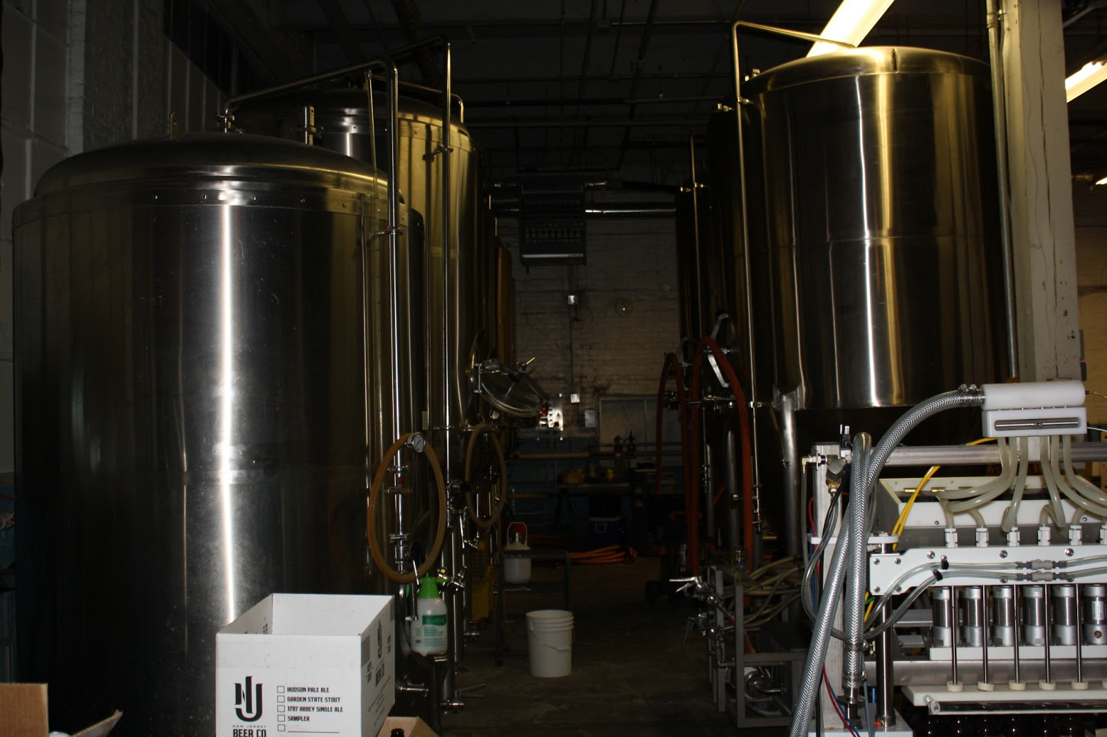 Fermentation Tank Farm at New Jersey Beer Company
