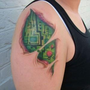 Circuit Tattoo - Tatuagem de Circuito