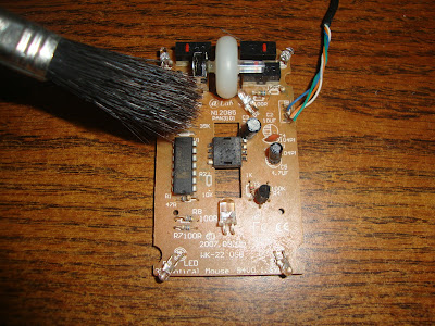 Mouse Optico Limpieza de Placa
