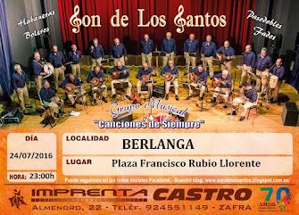 ÚLTIMAS NOTICIAS: Concierto en Berlanga, 24 de julio de 2016