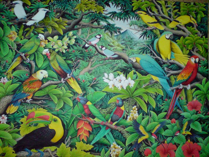 Lukisan ini saya pamerkan di hotel the royal pitamaha ubud