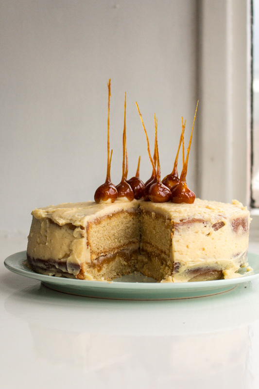 Salted Caramel Mud Cake with Caramel Spikes | Svelte Salivations