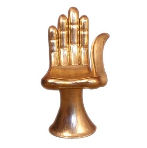 Gold, modern, design, chair, hand