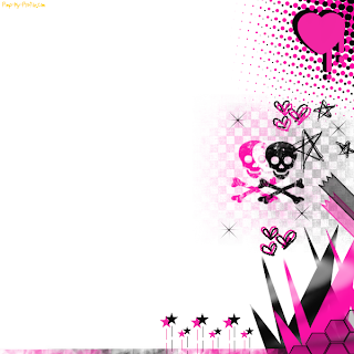 FULL WALLPAPER  Skulls and hearts and stars