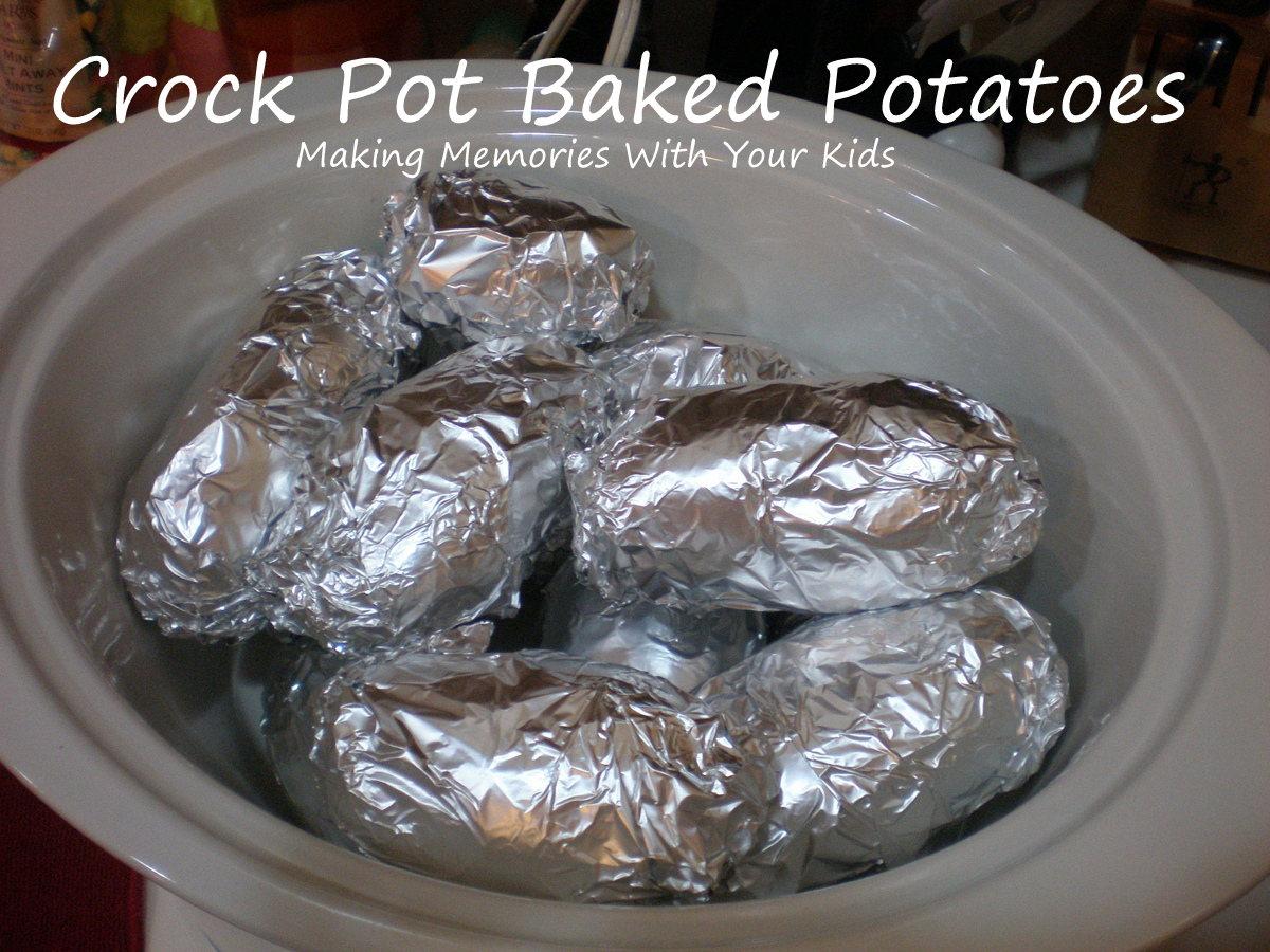 Crock Pot Baked Potatoes - Making Memories With Your Kids