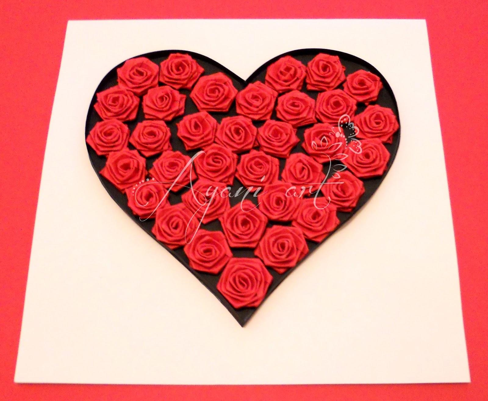 ayani art quilled valentine heart