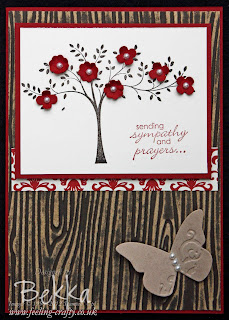 Stunning Sympathy card featuring the Stampin' Up! Core'dinations Card Stock by Bekka at www.feeling-crafty.co.uk