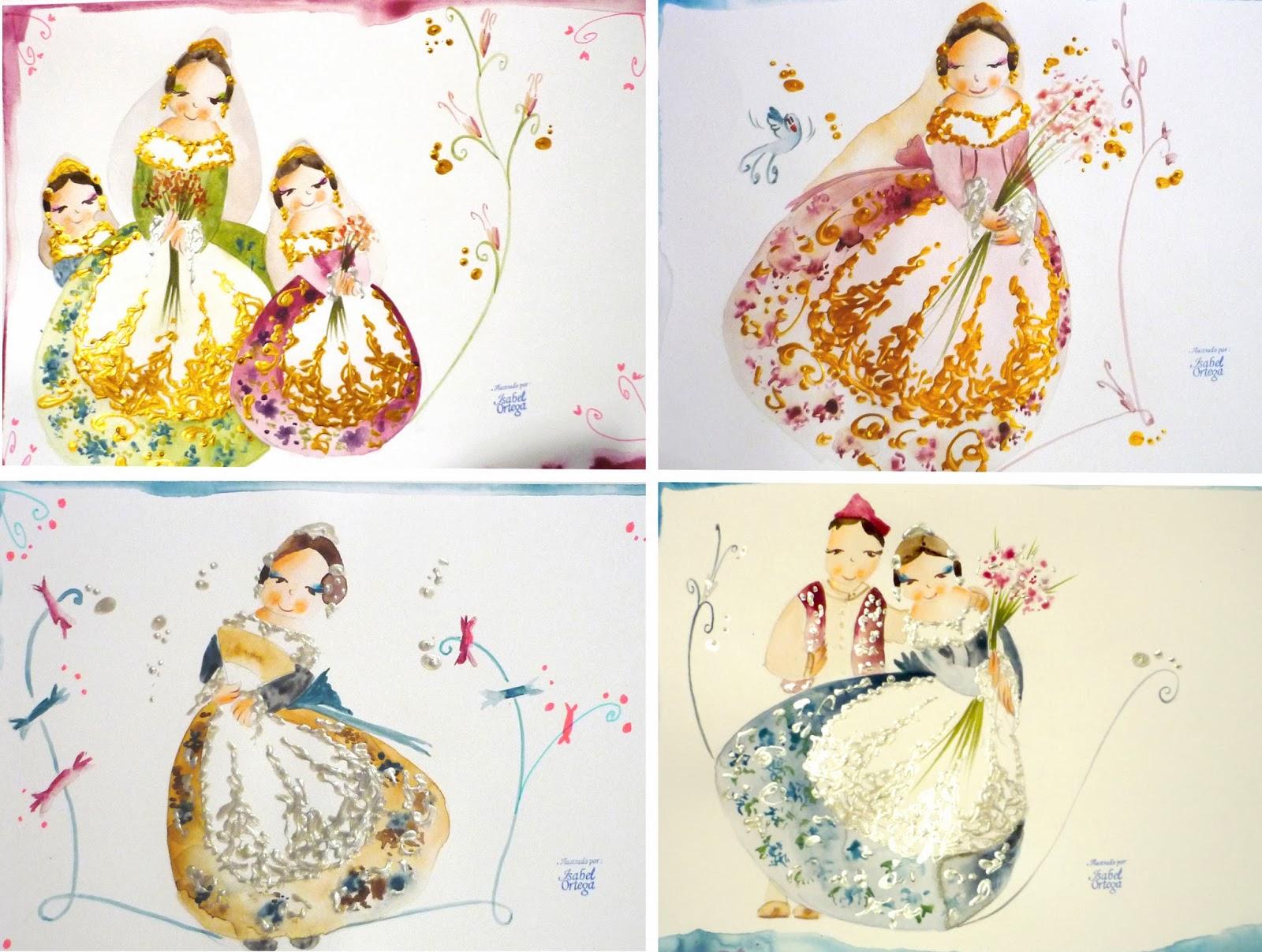 Isabel ortega ilustraci n - Telas con dibujos infantiles ...