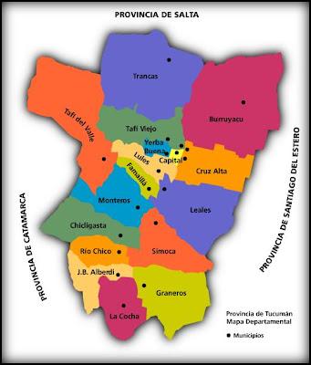 Tucumán Mapa Politico