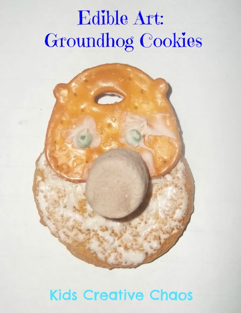 Edible Art and Crafts Groundhog Cookie and Lesson Marshmallow crafts for preschool