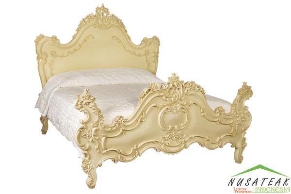 Rancak Louis XV Carved Bed - Nusa Teak