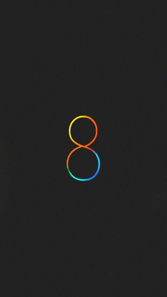 iOS8 Logo Dark  Galaxy Note HD Wallpaper