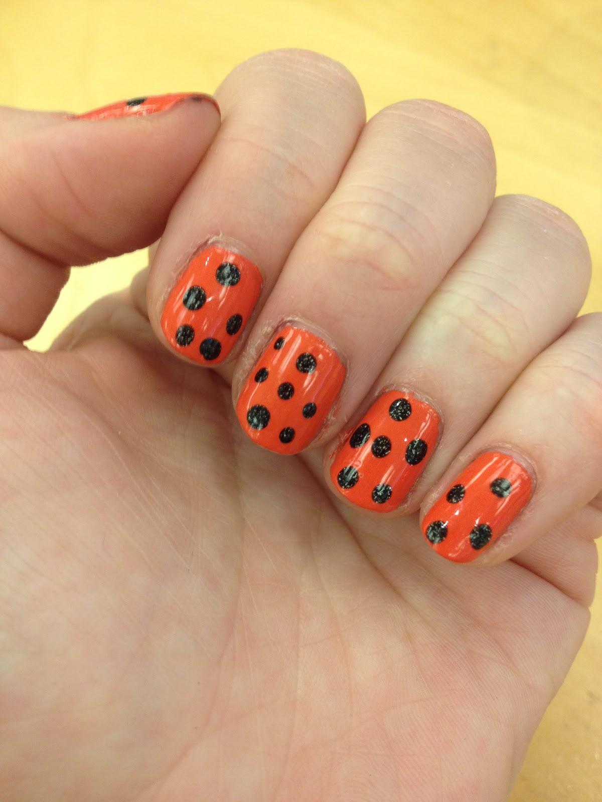 The Beauty of Life: Happy Halloween! Polka Dot Nail Art with ...