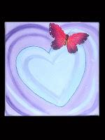 Herzbild mit Schmetterling