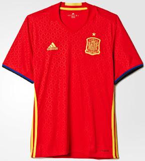 gambar desain terbaru dan jual jerxey spanyol home euro musim depan 2016 di enkosa sport Jersey Spanyol home euro 2016