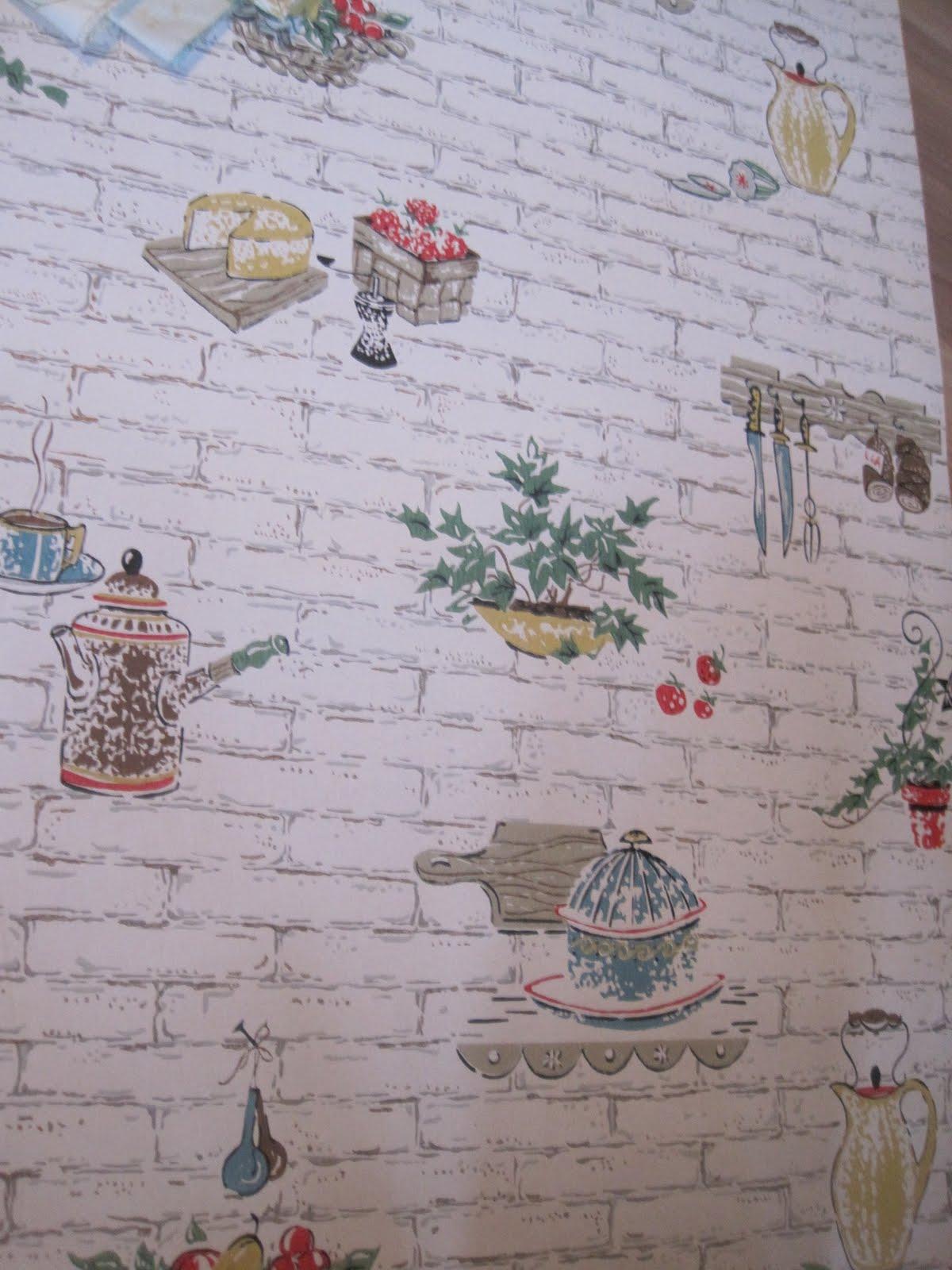 Ella Mae S Vintage Kitchen Wallpaper