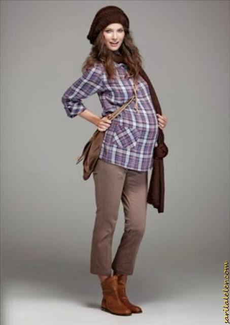 Yeni Moda Hamile Gömlek Modelleri