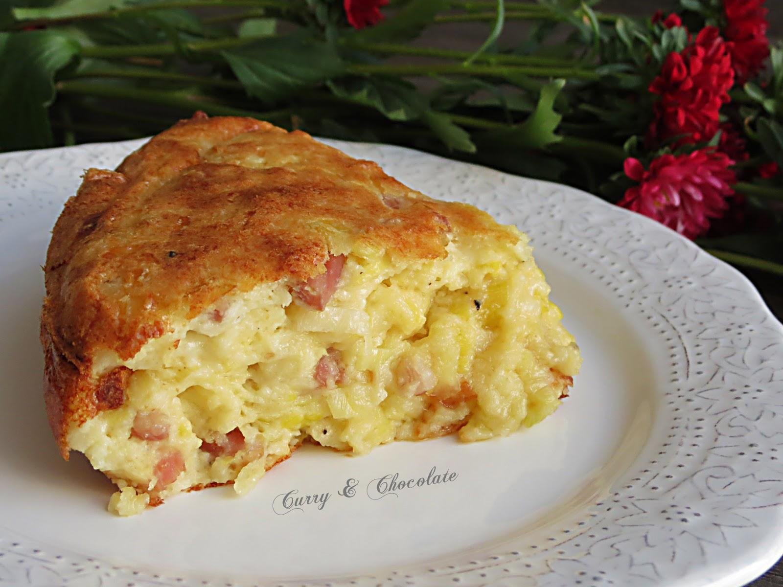 Pastel salado de queso viejo