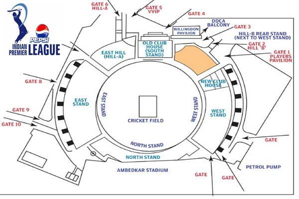 Delhi Daredevils IPL 6 Feroz shah Kotla Stadium IPL 6 2013 Online Tickets Bookings
