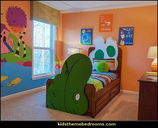 green eggs and ham dr seuss theme bedroom decorating ideas