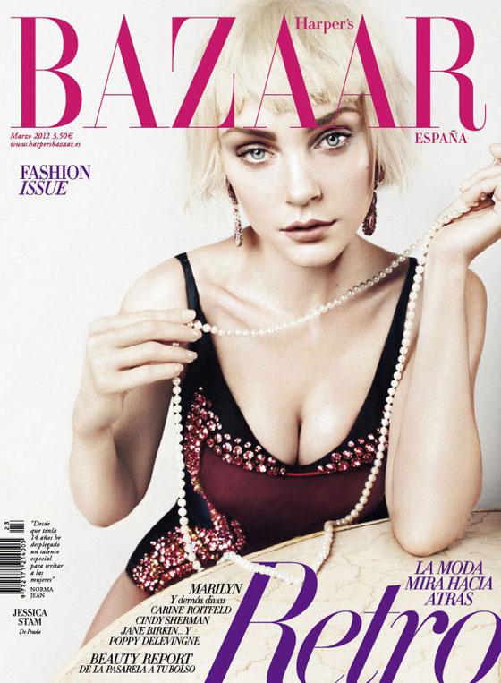 Jessica Stam para Harper's Bazaar España