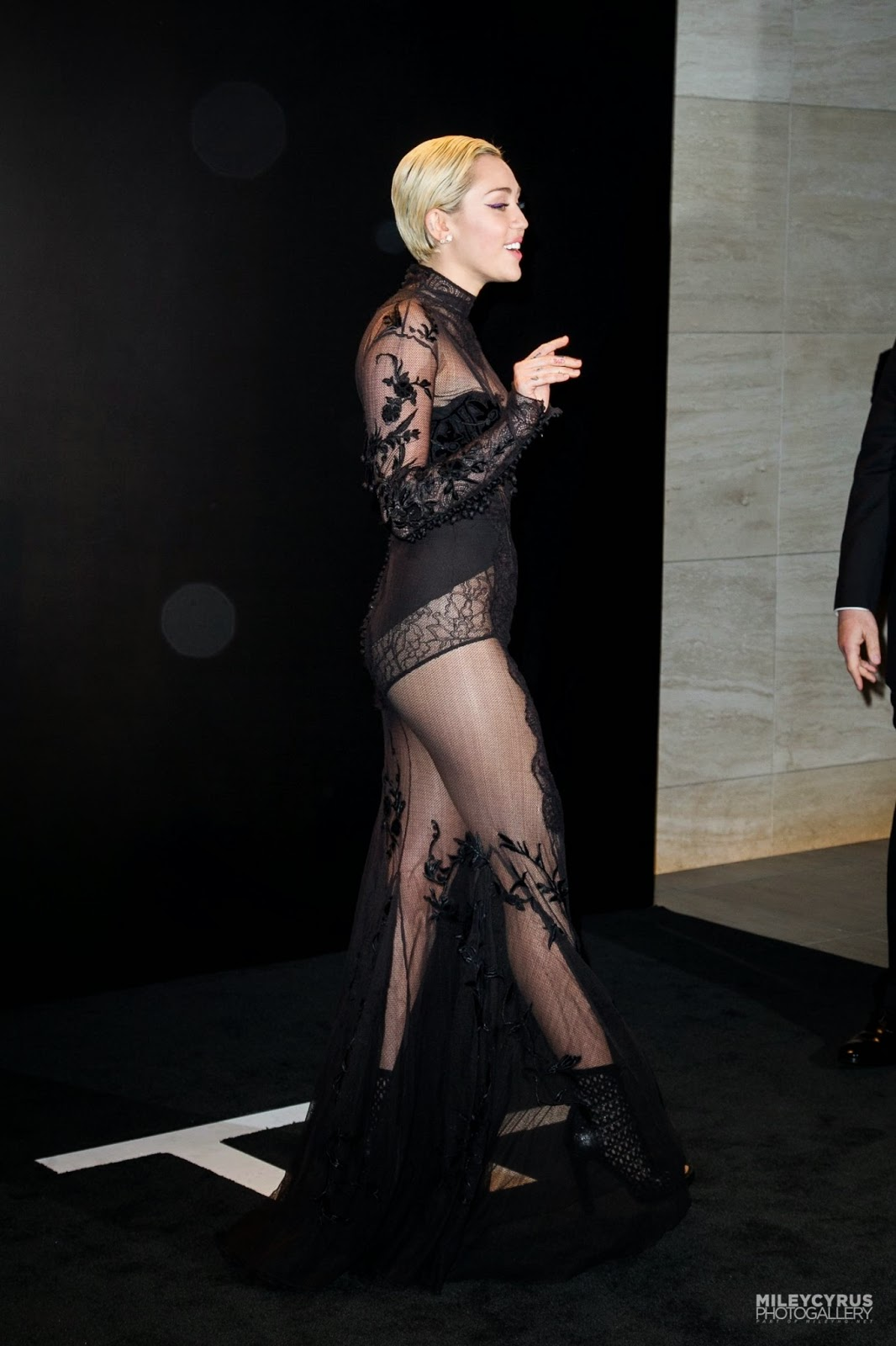 Singer, Actress: Miley Cyrus - at Tom Ford A/W 2015 Womenswear Collection Presentation in LA