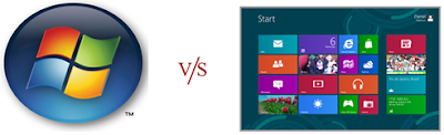 win 7 start button v/s win 8 start button