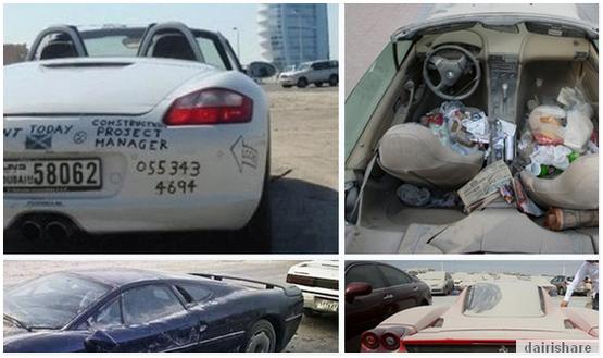 GAMBAR GAMBAR Bagaimana Rupa Kereta Mewah Yang Dibuang di Dubai