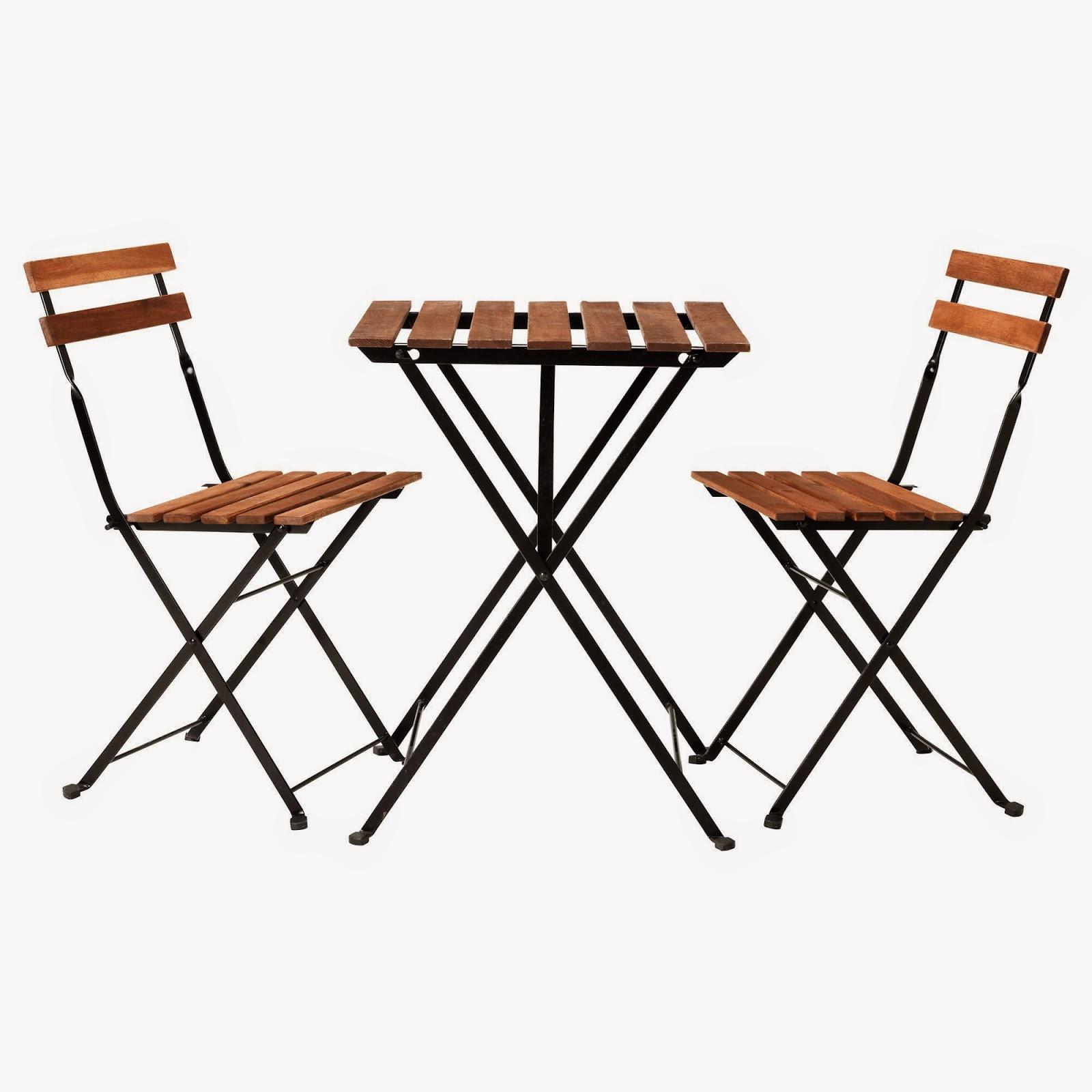 Купить тэрно стол и 2 стула, акация, сталь икеа в минске с д.