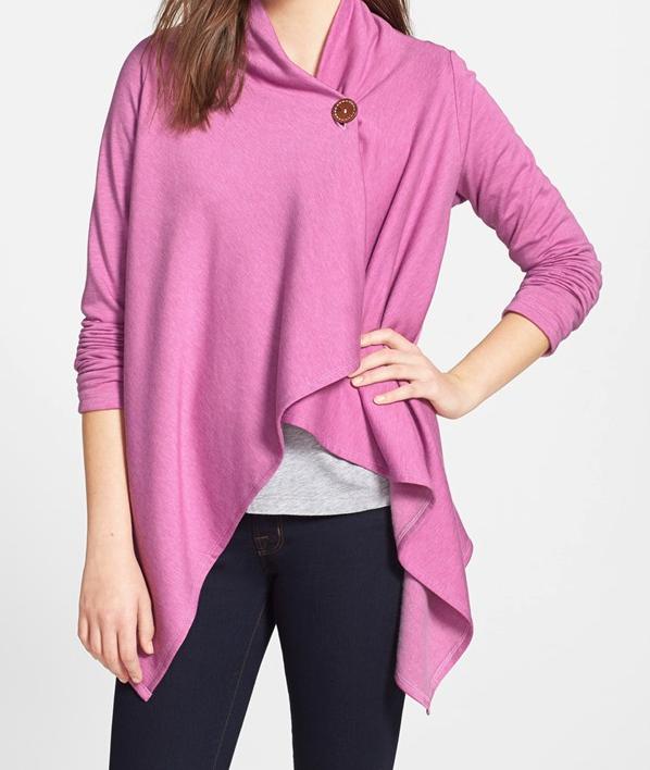 Weekend Steals & Deals - One Button Fleece Wrap Cardigan $19.90