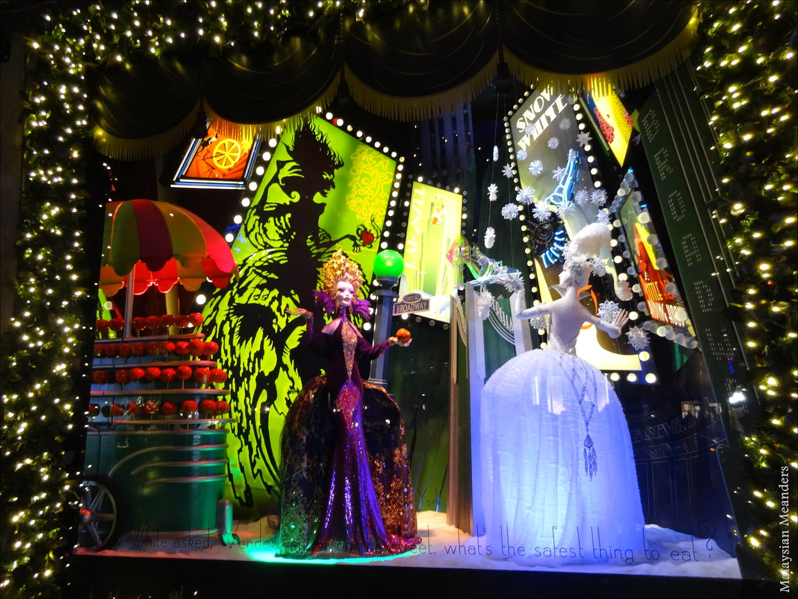 Malaysian Meanders: Saks Fifth Avenue\'s Enchanting Holiday Windows