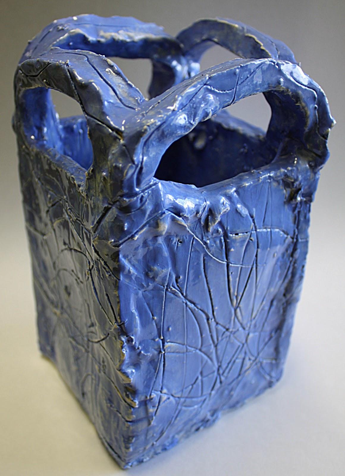 Art Scher Ceramic Slab Sculptures With Texture