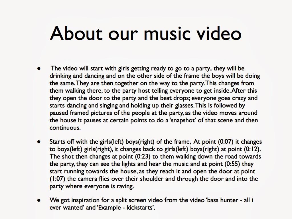 video treatment template - a2 music video production media studies treatment