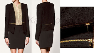 Kate Zara Blazer w Zips Princes Charities Forum eBargains!