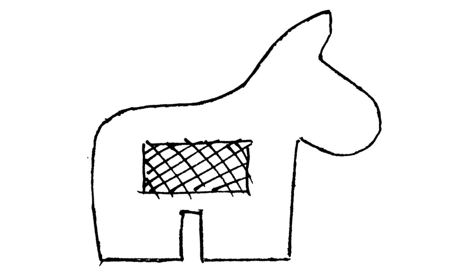 Nerdy image pertaining to donkey pinata template printable
