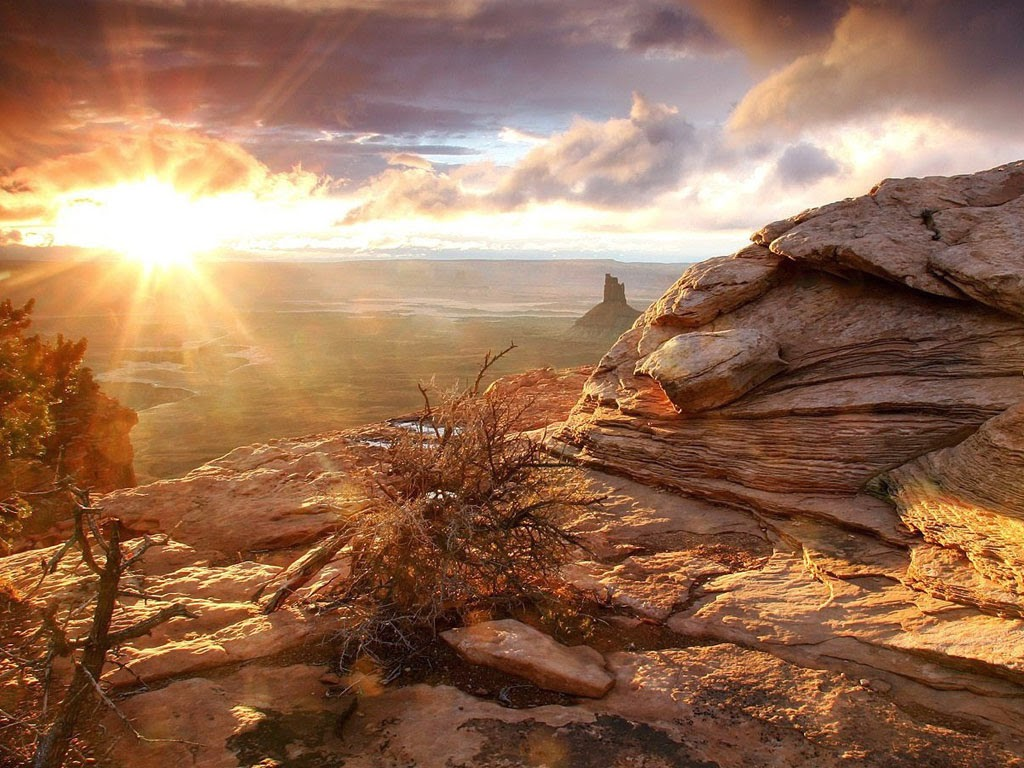 Wallpaper Pemandangan Pegunungan Sunset Indah Terbaru