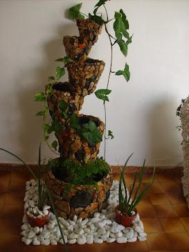 11.....ref : 0111 cascata modelo equilibrio vertical pedra madeira