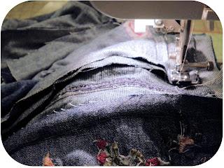 ProsperityStuff Denim Jeans Quilt Sewing