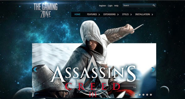 Gaming Zone - HotJoomla Gaming Template For Joomla | Download free ...