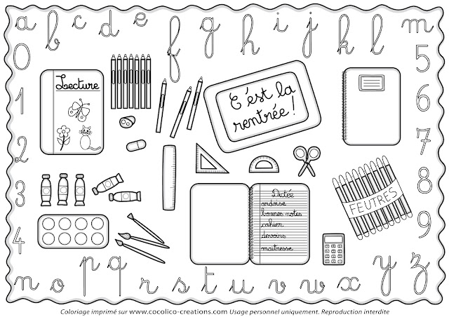 Gut bekannt cocolico-creations: Mercredi Coloriage # 16, Rentrée des classes OO24