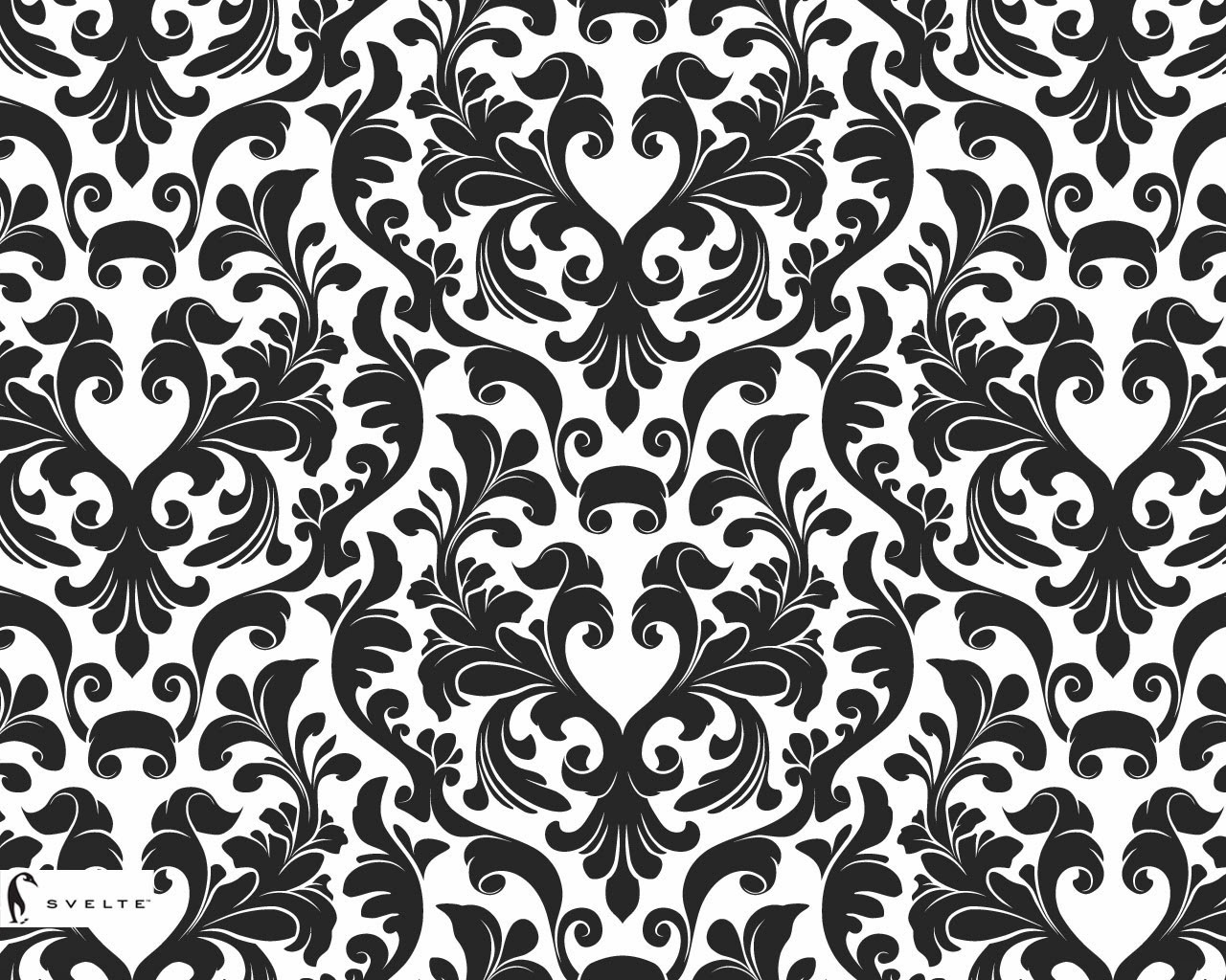 black damask wallpaper on - photo #22