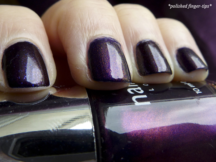 Chanel Taboo vs. Nails Inc Regent's Palace with Max Factor Fantasy Fire - Natural Light