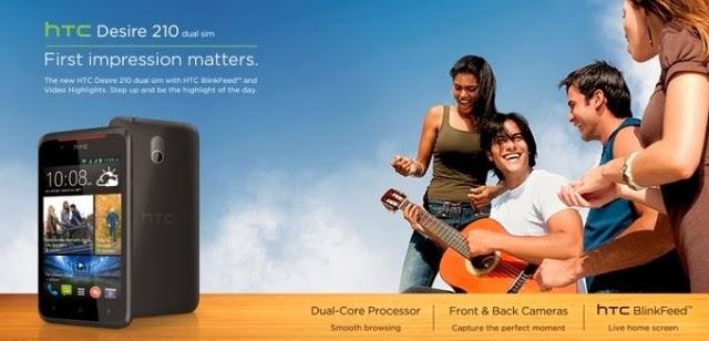 HTC Desire 210,Dual Core murah