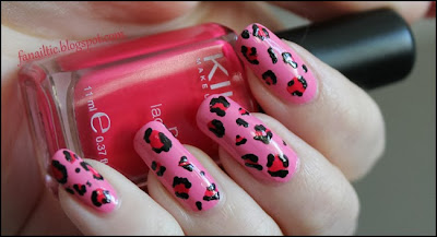 "leopard print feat. p2 ""lovely beauty"" & kiko 283 ""dark coral pink"" & Catrice ""Black to the Routes"""