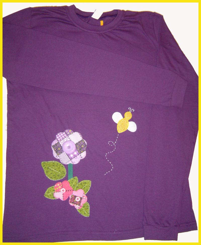 Camisetas de manga longa em Patch aplique