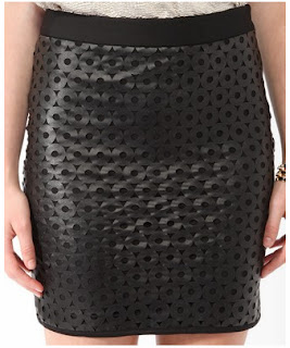 forever 21 cutout faux leather skirt
