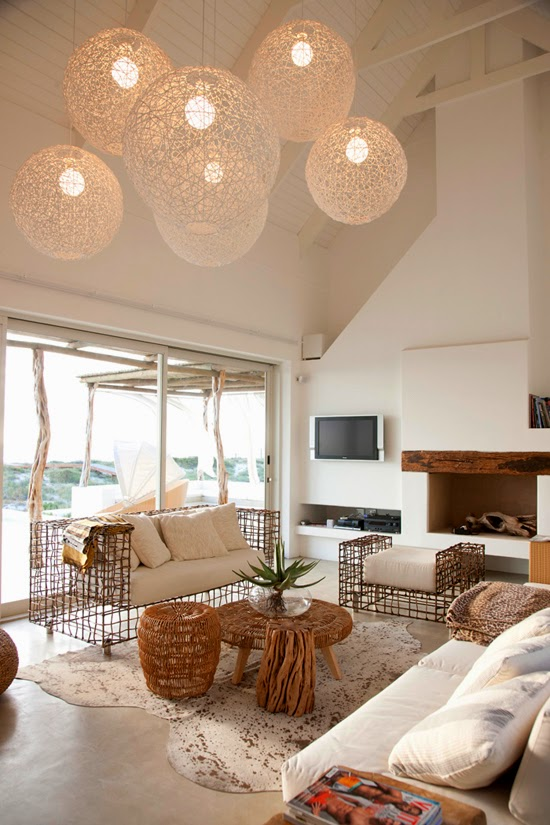 Safari Fusion blog | Light the way [part 2] | Round string ball lighting in a South Africa beach house